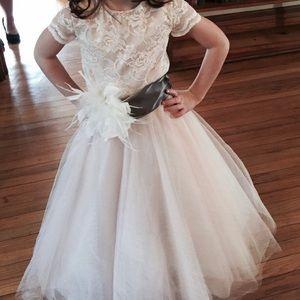 Handmade flower girl/formal dress